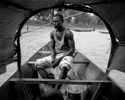 Ian van Coller, 'Man in Boat, Niger River, Mopti', 1998