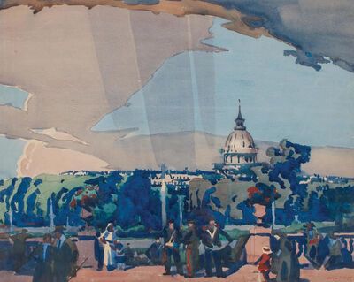 Frank Wilcox, 'Sundown in Luxembourg', 1910
