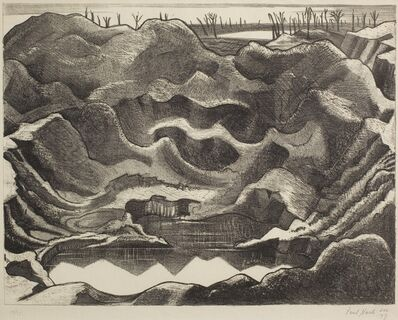 Paul Nash, 'Mine Crater Hill 60, Ypres Salient ', 1917