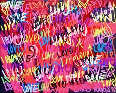 CHRIS RIGGS, 'Love Canvas 2', 2018