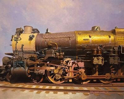 Drew Ernst, 'Golden Locomotive', 2017