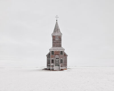 David Burdeny, 'Church in Snow, Saskatchewan, CA', 2020