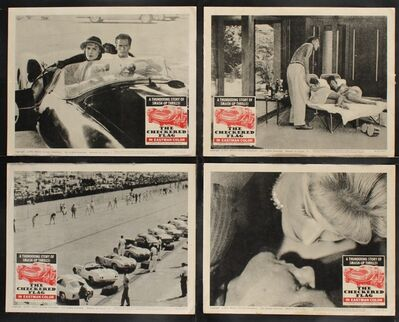 Anon, 'CHECKERED FLAG 7 Lobby Cards '63 smash-up car racing, a thrill-a-minute screen explosion!', 1963