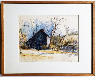 Wolf Kahn, 'Thompson House on Old Country Setauket (Grace Borgenicht Gallery)', 1980