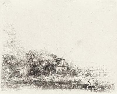 Rembrandt van Rijn, 'Landscape with a Cow', circa 1650