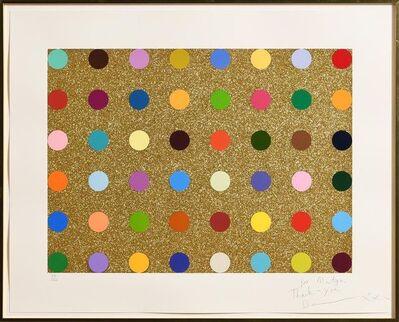 Damien Hirst, 'Gold Glitter Spots', ca. 2010
