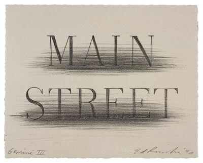 Ed Ruscha, 'Main Street', 1990