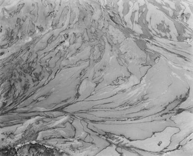 Frank Gohlke, 'Aerial view: ash-covered snow, snow-covered ash. East flank of Mount St. Helens', 1982