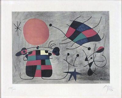 Joan Miró, 'Le sourire aux ailes flamboyantes', 1954