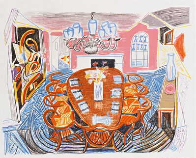 David Hockney, 'Tyler Dining Room', 1984