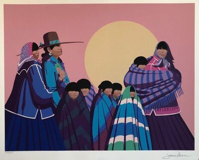 James Darum, 'Native American Indian Family, Old Southwest Silkscreen', Late 20th Century