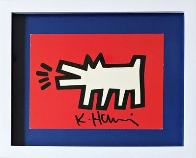 Keith Haring, 'Barking Dog (from the Estate of UACC President Cordelia Platt)', ca. 1990