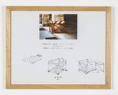"""Ugo La Pietra, 'Serie """"Attrezzature urbane per la collettività"""" - Recinto/box per neonati', 1979"""
