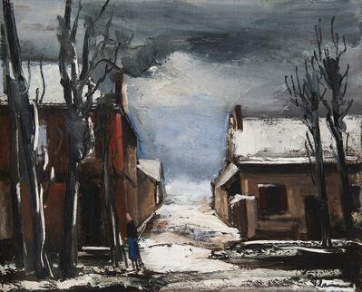 Maurice de Vlaminck, 'Rue animée sous la neige', Unknown