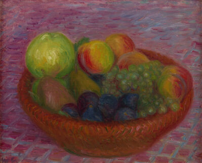 William James Glackens, 'Fruit in a Red Basket', ca. 1930