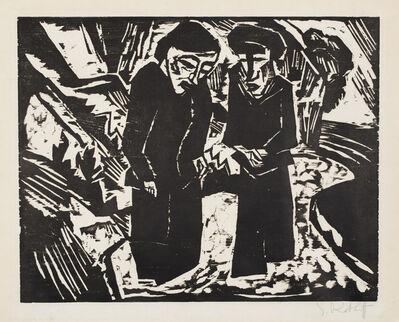 Karl Schmidt-Rottluff, 'Mourning Women on the Beach', 1914