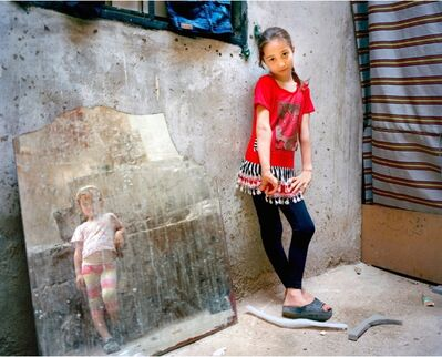 Rania Matar, 'Amal 9, Zahra 5 (girl in the mirror), Beirut', 2014