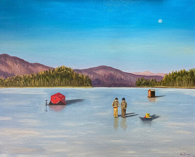 Michelle McElroy, 'Ice Fishing on Newfound Lake', 2021