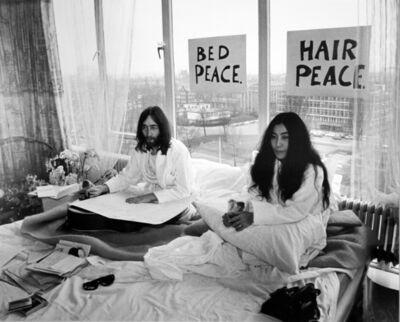 Tony Grylla, 'John Lennon and Yoko Ono, Bed Sitting Amsterdam', 1961