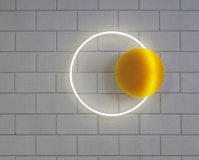 Sabine Marcelis, 'Voie Lights Medium Hanging - Gold/ white neon', 2016
