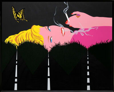 Allan D'Arcangelo, 'Smoking Blonde', 1990