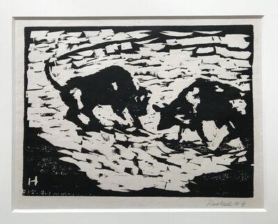 Erich Heckel, 'Stiere (Bulls)', 1908