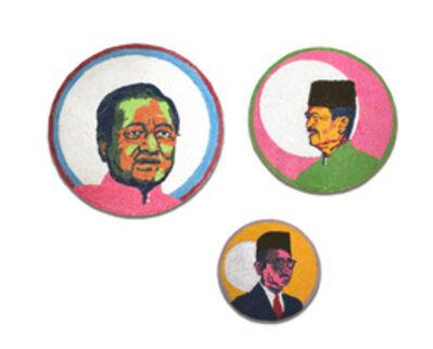 Anurendra Jegadeva, 'Kolam I (Mahathir),Kolam II (Badawi),Kolam III (The Tunku)', 2013