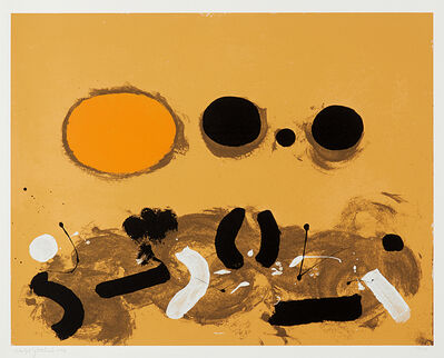 Adolph Gottlieb, 'Orange Oval', 1972