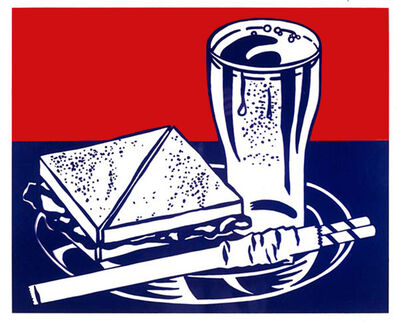 Roy Lichtenstein, 'Sandwich and Soda', 1964