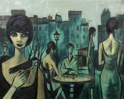Charles Levier, 'Cafe Scene in Paris', 1961