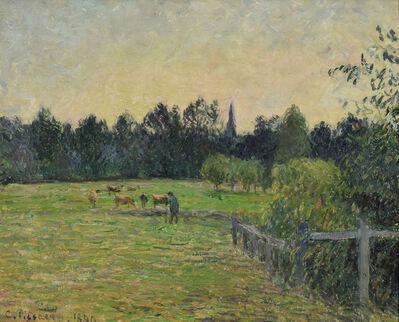 Camille Pissarro, 'Vacher dans un Pré à Éragny', 1890