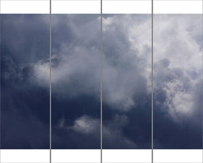 Jeri Eisenberg, 'Songs of the Sky No. 11 (4 Panel Sky Photograph Japanese Kozo Paper/Encaustic)', 2018