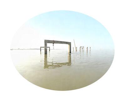 """Shun-Fa YANG, '彰化縣芳苑鄉潮間帶濕地(二)  23°55'20.6""""N 120°18'36.1""""E Tidal zone wetland, Fangyuan Township,  Changhua County II', 2017"""