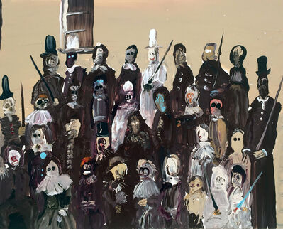 Genieve Figgis, 'Gang of clowns', 2016