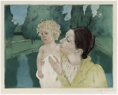Mary Cassatt, 'By the Pond (Fourth State)', ca. 1896