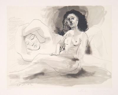Pablo Picasso, 'Homme Couchée et Femme Assise, 1942', 1979-1982