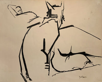 Jacob Lawrence, 'CAT WITH GWEN', 1960