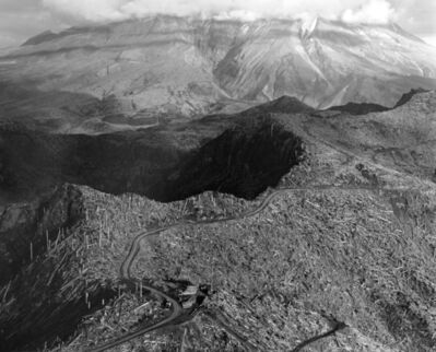 Frank Gohlke, 'Aerial view: logging site near Spud Mt., 5 miles NW of Mt. St. Helens, Wash.', 1983