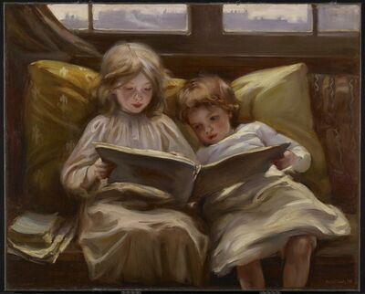 Laura Muntz Lyall, 'Interesting Story', 1898