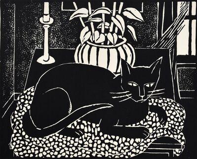 Kyohei Inukai, 'Cat on a Table', 1965