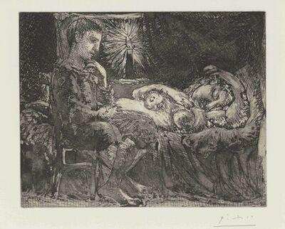 Pablo Picasso, 'Garçon et dormeuse à la chandelle, from La Suite Vollard', 1934