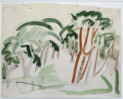 Ernst Ludwig Kirchner, 'Bäume', ca. 1912