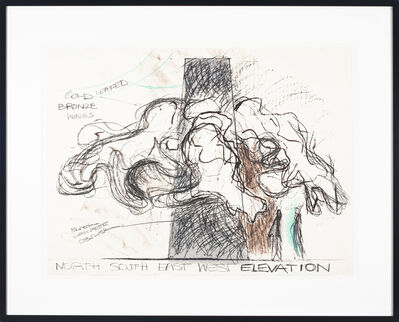 Lynda Benglis, 'Gold Leafed Bronze Wings', 1979
