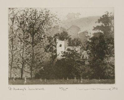 Norman Ackroyd, 'St Mary'S, Swinbrook', 1990