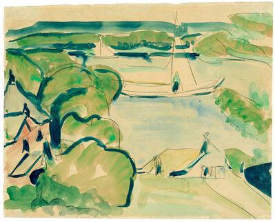 Ernst Ludwig Kirchner, 'Boote auf dem Müggelsee', ca. 1911