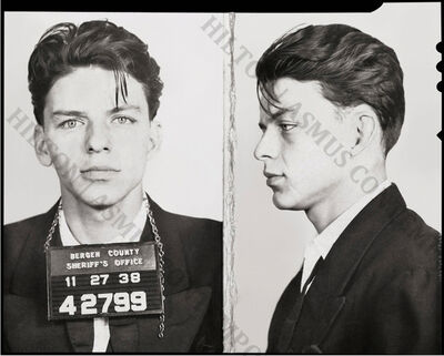 Unknown, 'Frank Sinatra Mug Shot - Front and Side - 1938', 1938