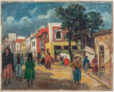 Albert Abramovitz, 'Street Scene Oil Painting Circa 1930s', Early 20th Century
