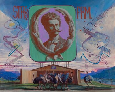 Egor Koshelev, 'Johann Strauss' experimental ostrich-breeding farm', 2014