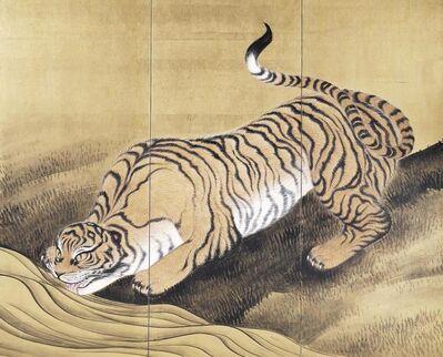 Kunii ōbun, 'Tigers in a Landscape', 1884