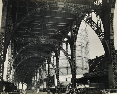 Berenice Abbott, 'Under Riverside Drive Viaduct (145 Street and 12th Avenue).', 1937